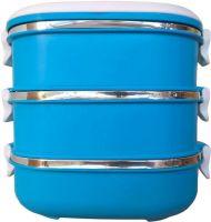 Ланч-бокс трёхсекционный 2,7 литра синий